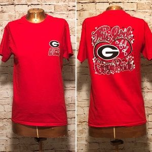 UGA University if Georgia Bulldogs Glitter T-Shirt